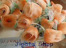 2-tone Orange Rose Flower RubberLeaf Party-Wedding-Decoration 110V Light String