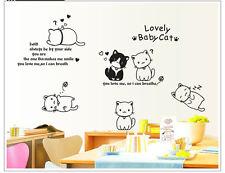 Wandtattoo Wandsticker Kinderzimmer Spielende Sü�Ÿ Katzen Liebe Wandaufkleber