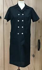 Vintage Women's Shift Dress Black Button Front Career Originals Donna Gay