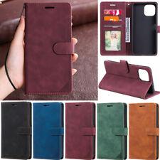 Retro Matte Wallet Leather Flip Case For Samsung S21 S20 S10 A52 A32 A12 A22 A51