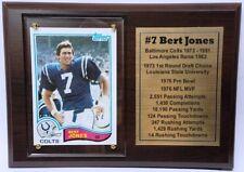 Baltimore Colts Bert Jones Topps Football Card Plaque