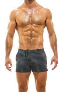 MODUS VIVENDI Mens Designer Short Leg Trendy Swimming Shorts with Pockets