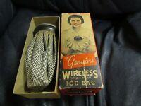 Vintage Genuine Wireless Ice Bag in Box
