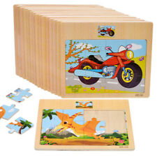 Baby Vehicle Car Puzzle Set Toys Wooden Early Education Learning Student Kids