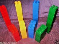 Lego Duplo 60 Steine 8er 4er  Bausteine grün  rot gelb blau kg Duplosteine Brick