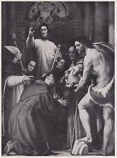 D3900 G. A. Pordenone - San Lorenzo Giustiniani con Santi - Stampa - 1939 print