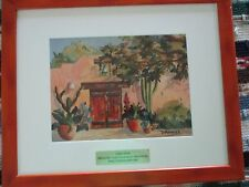 Diana Maderas Signed Framed & Matted Art Print 22 1/2 x 18 1/2