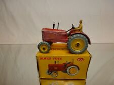 DINKY TOYS 300 MASSEY HARRIS TRACTOR - RED - VERY GOOD CONDITION IN BOX