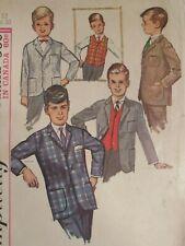 Amazing VTG 65 SIMPLICITY 6108 Boys Lined Jacket & Vest PATTERN 12/30C