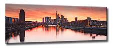 Leinwand Bild Frankfurt Skyline Skyline Mainhattan Rot Sonnenuntergang Himmel XL