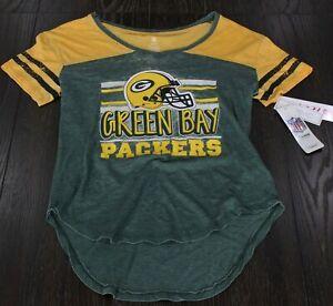 Green Bay Packers Team Apparel Short Sleeve T-Shirt Girls Teen Juniors Sizes NEW