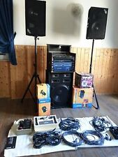 DJ Profianlage kpl mit Boxen ; Stative, Funkmikros und Lichtanlage