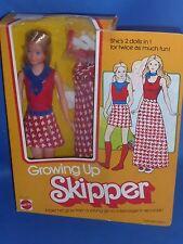 ♥ NRFB OVP TOP vintage 70er Mattel 1975 Super Star Ära Growing Up Skipper Barbie