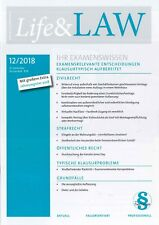 Life&LAW, Heft Dezember 12/2018 - Ihr Examenswissen von hemmer +++ wie neu +++