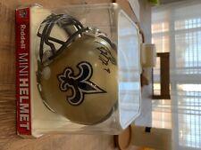 Riddell Mini Helmet sighned by Drew Brees