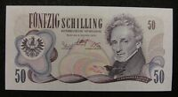 Austria 50 Schilling BANKNOTE 1970