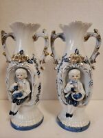 Norleans Japan Man Sitting In Vase. Lot Of 2. Height 7 1/2 Inches