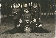 GERMAN SOLDIERS Uniform Beer Training CAMP Real Photo Military PC Senne 1911