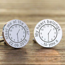 Personalised MEET ME AT THE ALTER Cufflinks, Groom Gift Wedding Party Gift,