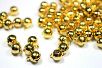Lot 10 Pièces Cloche Doré 10mm x 8mm grelots Metal Doré Clochette Jingle Bell
