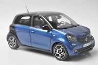 Mercedes-Benz Smart Forfour Cabrio model in scale 1:18 black/blue