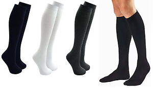 1,3,6 Pairs Mens Gents Long Hose  Ribbed Comfy Grip Cotton Knee High Socks 6-11