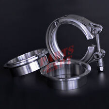 "2.75"" inch Stainless Steel V-band Vband clamp & Flange Turbo Exhaust Down Pipe"