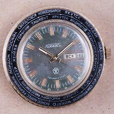 RAKETA GMT Calendar guarantee USSR RUSSIAN MECHANICAL
