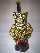 HANDMADE TOBACCO PIPE, Tiki God Design.