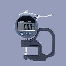 Digital LCD Readout Percentile Thickness Gauge For Fabric 0.01 mm Range:0-10mm