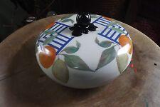 """GIEN   France  """"La Ronde Des Fruits"""" container jar lid  Made in France French"""
