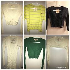 Hollister Lot Of 6 Women's Sweaters Cardigans Tops Sz XS