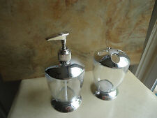 Bathroom Vanity Decorative Accessories Toothbrush Holder & Soap/Lotion Dispenser