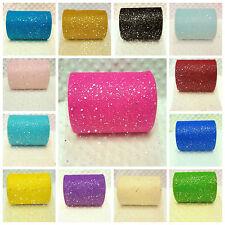 1m, 2m, 5m, 10m Glitzy Glitter Sparkle Net Tulle