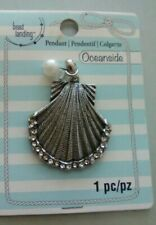 Nwt Bead Landing Oceanside Shell with Faux Pearl Pendant
