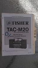 Fisher tac-m20 service manual original repair book stereo radio record player
