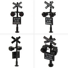 1 lot N Scale Railroad Crossing Signal 2 heads LED made + Circuit board flasher