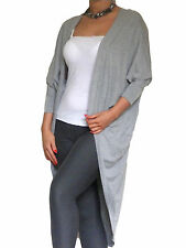 Cardigan Ladies Womens Long Sleeve Top New Boyfriend Open Shrug Size 10 12 14 16