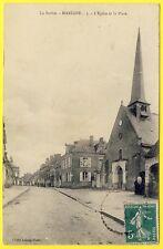 cpa RARE 72 - Village de MARIGNÉ LAILLÉ (Sarthe) L' ÉGLISE et la PLACE