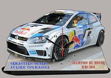 MINIATURE AUTO RALLYE  OGIER, Champion du Monde WRC 2013-02 en horloge miniature