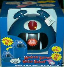 Monster Talking Kid Gabage Waste Basket Interactive Children Trash Can Pail Xmas