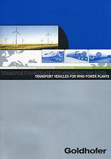 1003GH Goldhofer Transportfahrzeuge Windkraftanlagen Prospekt 2002 8/02 brochure