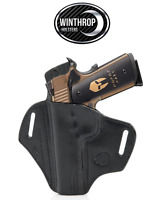 1911 5 inch NO lasergrips NO rail OWB Shield Holster LEFT Hand Black