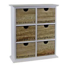 6 Drawer Cabinet Heart Of The Home Shabby Chic Storage Organiser Home Decor