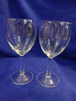 2 VINTAGE WINE GLASSES