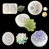 KQ_ BG_ Silicone Mold Flower Leaf Epoxy Resin Mould DIY Jewelry Making Clay Craf