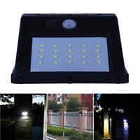 LED SMD Außenleuchte Solar Akku Bewegungsmelder Wandleuchte Gartenlampe Schwarz