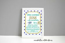 Unlimited - Time Capsule 1st Birthday Blue / Pink dots with gold glitter Baby