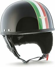 "Cascos Moto ® D22 ""Italia Negro"" * cerebro-Cap * Casco De Moto-Vintage Jet-Timón"