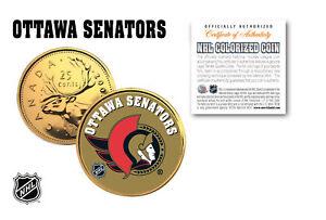 OTTAWA SENATORS NHL Hockey 24K Gold Plated Canadian Quarter Coin * LICENSED *